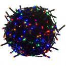 Vánoční LED osvětlení 20 m - barevné 200 LED - zelený kabel